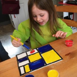 photo of Mondrian craft